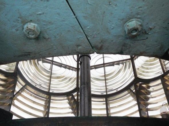 lens inside the lighthouse