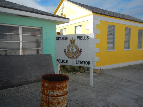 "Local Police HQ; located next to the ""all age"" school that overlooks the Atlantic"