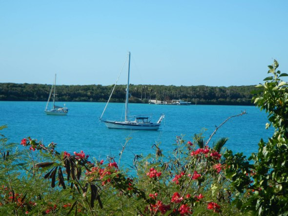 Last Star at Anchor in Royal Harbour Eleuthera