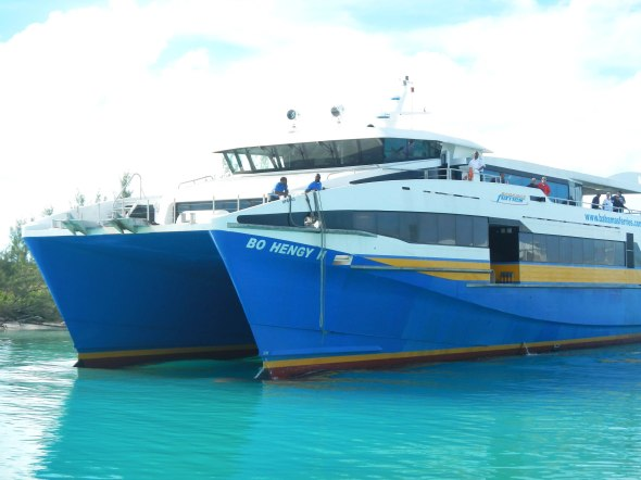 The high speed ferry to Island Harbour