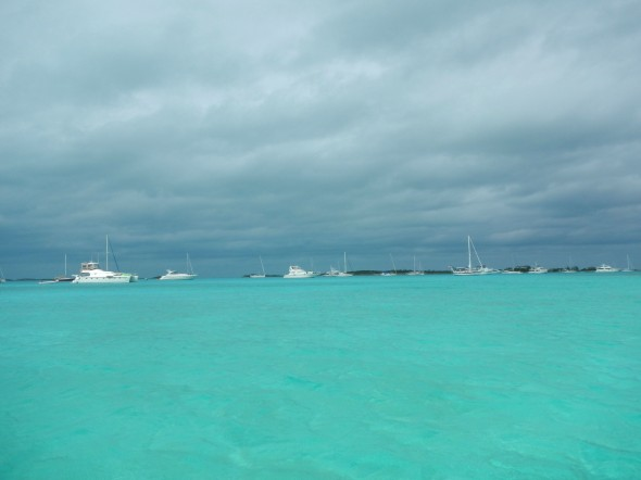 Awful Exuma weather!  It even rained a few drops.