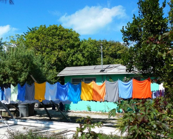 even the laundry is color matched