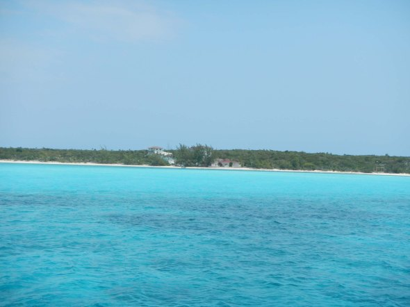 Channel into Farmer's Cay...more glorious water.