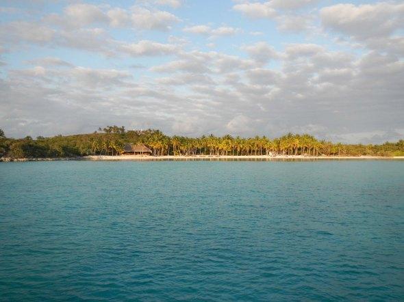 Musha Cay at sunset