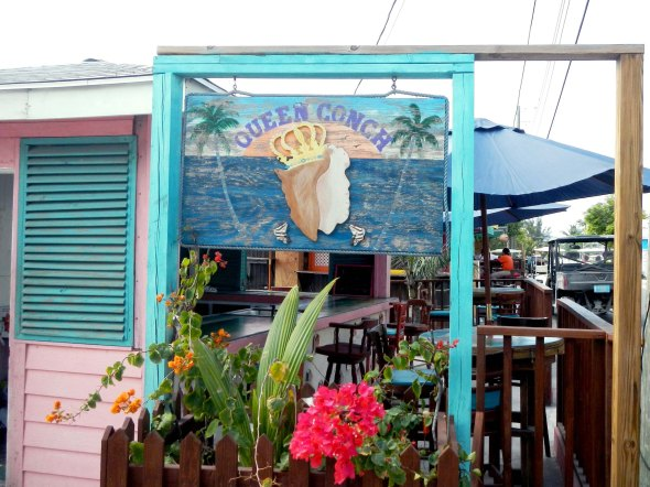 Queen conch, famous for their conch salad made on the spot...but today, no conch. ??