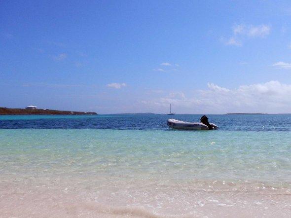 Dinghy and beach