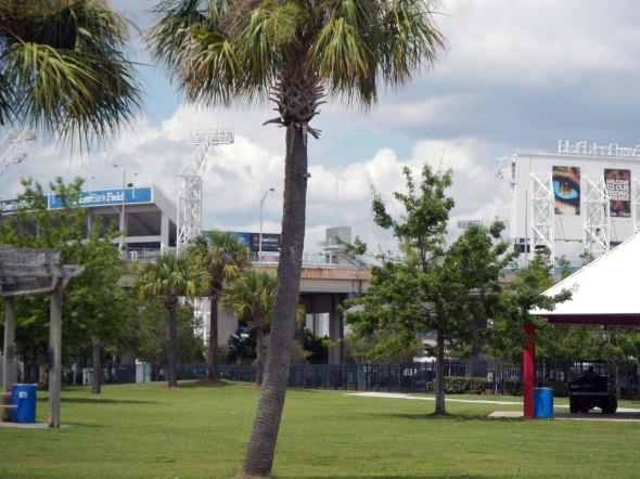 EverBank Stadium where the Jaguars play...right next door