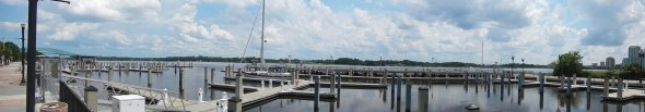 180 panoramic view of our empty Marina...can you see us?