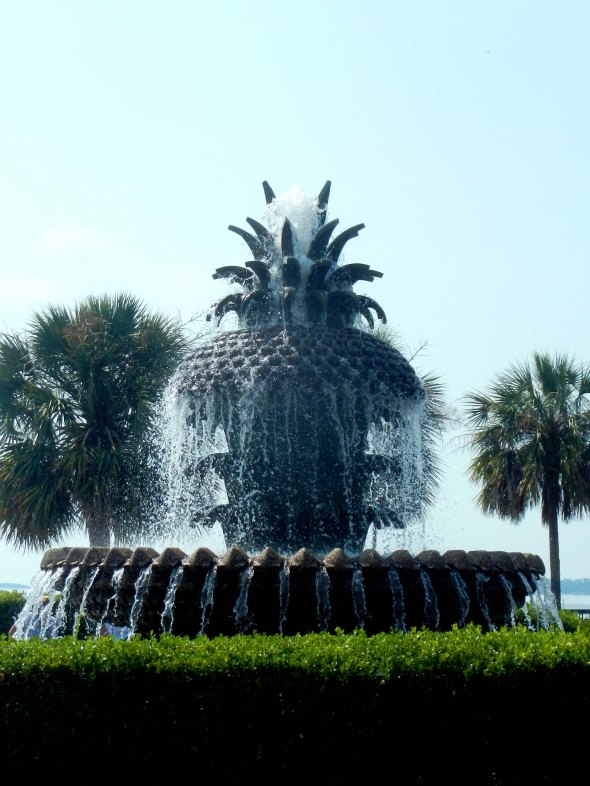 A pineapple fountain.