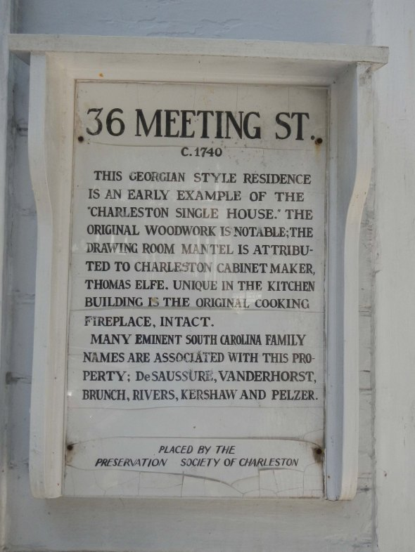 Many homes have these plaques out front and the majority are historical homes.
